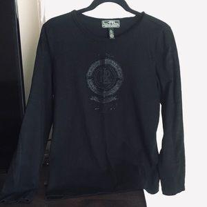 LRLauren Active Women's Black Tee Shirt Sz L